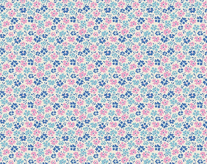 TILDA LEMONTREE - Flowerfield Blue 100018 - 1/4 yard