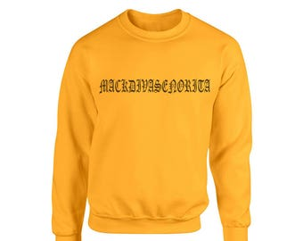 MACKDIVASENORITA sweatshirt, as seen on ariana grande, mack diva senorita