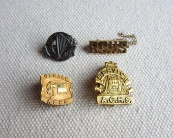 Vintage 1940's-1950's Atlantic City High School Lapel Pins, ACHS Memorabilia, Mid Century School Awards, Pins,Atlantic City High School Pins