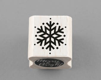 Rubber Stamp with Snowflake 1,5 x 2 cm