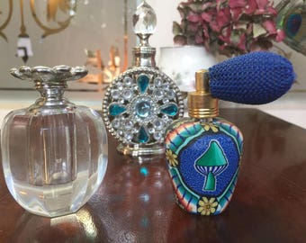 Collection of 3 Vintage Perfume Bottles