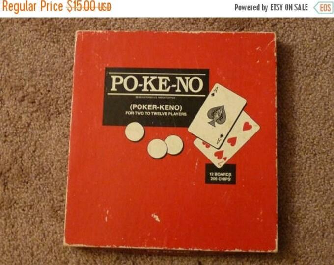 Retrocon Sale - Po-Ke-No Poker Keno 1938 United States Playing Card Company great condition