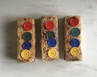 Set of 12 Large Button Napkin Rings