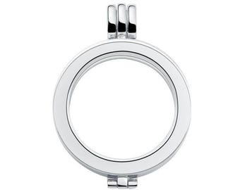 X 1 Silver Circle Pendant that opens interchangeable Support