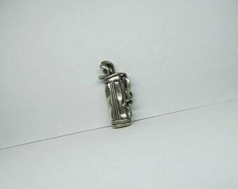 BEAU STERLING Vintage Silver Gold Club Charm W #521