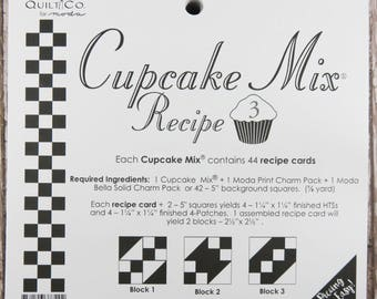 Cupcake Mix Recipe #3 - Quilt Pattern - Charm Pack Friendly - Miss Rosie's Quilt Company