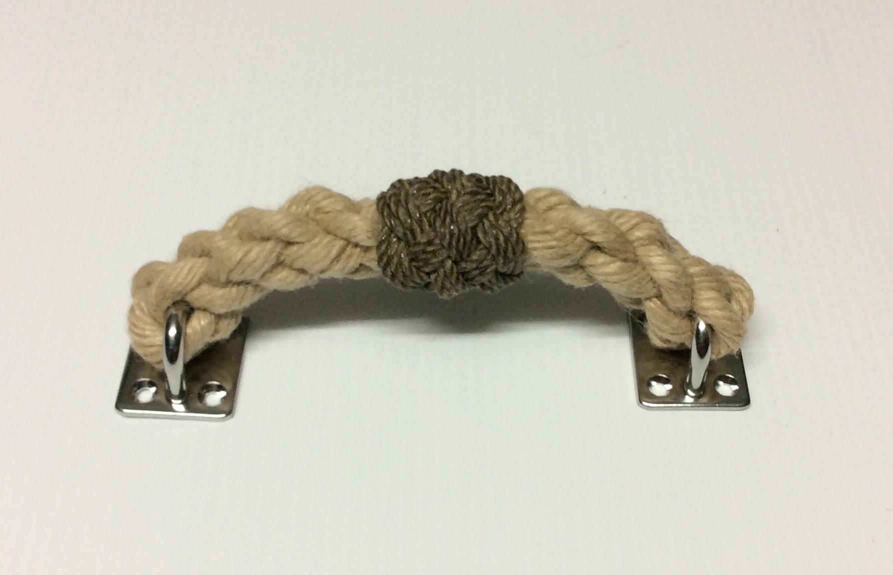 ROPE DRAWER PULL handles handmade natural Hemp rope look a like ...