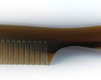 Sale until  17th September - Two Pieces of C004 Hair Comb Handmade From Cattle Horn