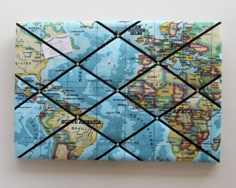World map pinboard etsy world map fabric noticeboard 60cm x 40cm atlas pin board map noticeboard gumiabroncs Image collections