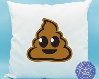 Poop Emoji Pillow - Brown Pile of Poo Emoji Pillow - Pile of Poo Emoji Pillow - Poo Emoji Cushion - Poop Pillow Cover 16x16