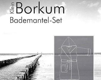 """Summer Sale Farbenmix pattern children bathrobe """"kleinBorkum"""""""