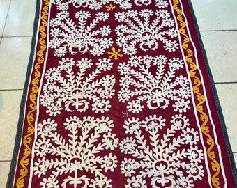 Vintage Uzbek suzani handmade tablecover bedcover