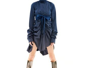 Dresses On Sale Blue Shirt Dress, Dark Blue Dress, Blue Party Dress, Blue Mini Dress, Button Down Dress, Blue Tunic Dress, Blue Midi Dress,