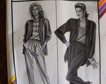 41% OFF Misses' Elastic Waist Pants Stretch and Sew Sewing Pattern 724