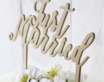 Cake topper - Just Married -