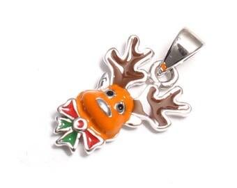 Reindeer Moose pendant in 925 sterling silver