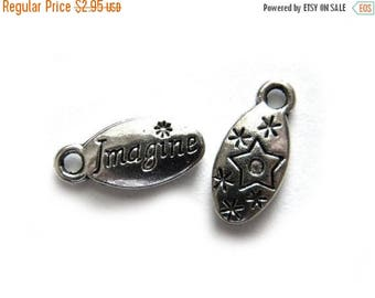 HALF PRICE 6 Silver Imagine Charms - 16mm