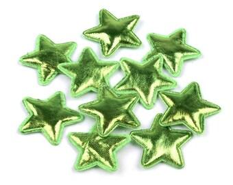 5 green metallic star 305 mm