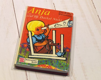 """upcycling Notebook """"Anja"""" from an old youth book, ca. din A5"""