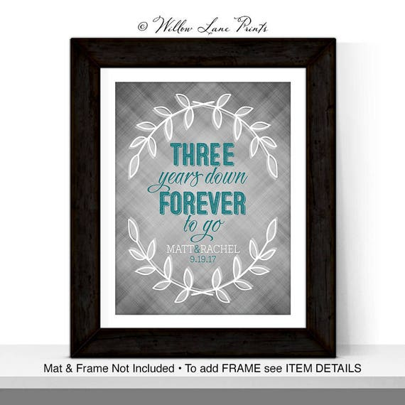 3rd Anniversary Gift For Him Her Couple Third Wedding