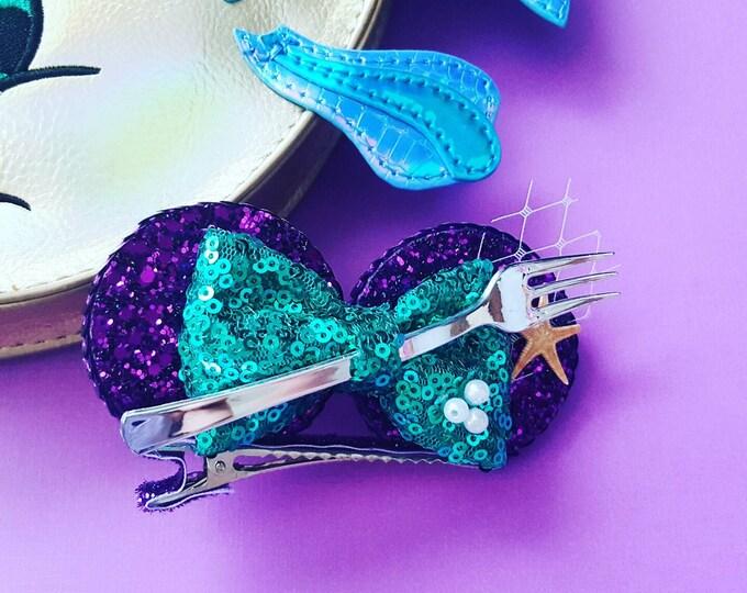 Dinglehopper Mermaid Mini Mouse Ears clip, mermaid Mouse Ears || Mermaid Mouse Ears || Mermaid || Mickey Mouse Ears