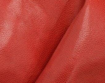 "Classy Red Rose Leather Cow Hide 12"" x 12"" Pre-cut 1 1/2-2 ounces DE-63231 (Sec. 6,Shelf 4,A)"