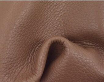 "NZ Deer Sale Lavish Mocha Creme Leather New Zealand Deer Hide 8"" x 10"" Project Piece 3 1/2-4 oz TA-56777 (Sec. 3,Shelf 3,D)"