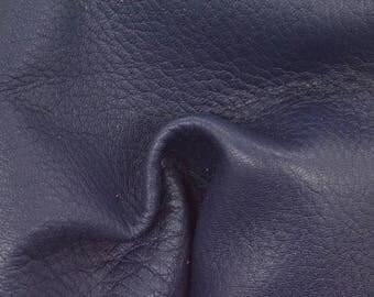 """NZ Deer Sale Prussian Blue Leather New Zealand Deer Hide 8"""" x 10"""" Project Piece 3 1/2-4 oz TA-56769 (Sec. 3,Shelf 3,D)"""