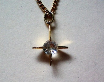 Crystal Rhinestone Cross Pendant - 5402