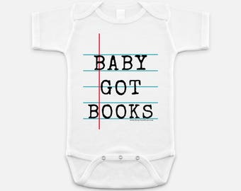 Notebook Paper Graphic© Bodysuit for Babies - Fun and Unique Gift for Teacher and Student
