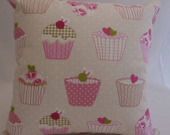 Pillow - Cupcakes design feature cushion, complete with cushion pad, zip fastening