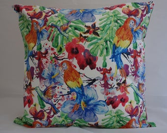 Pillow - Parrot design feature cushion, complete with cushion pad, zip fastening