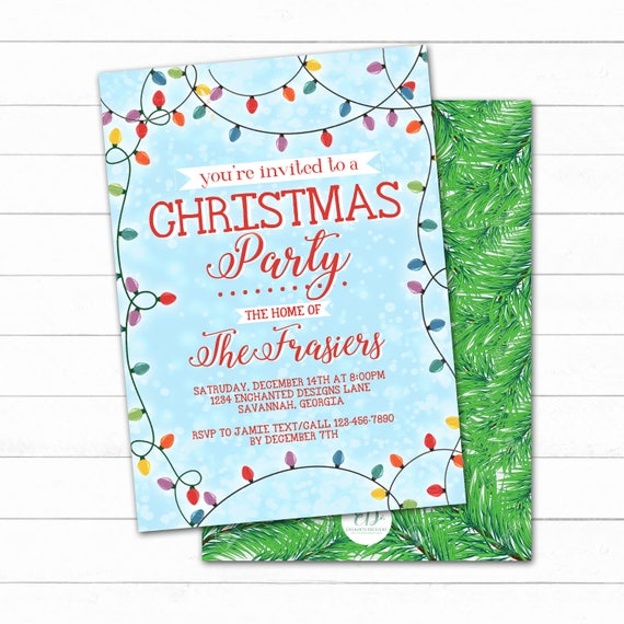 Christmas Lights Holiday Invitation