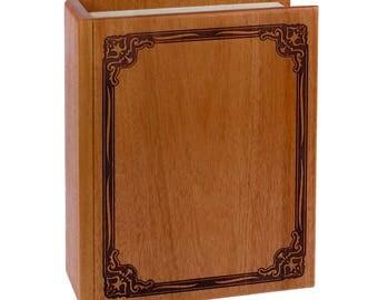 Mahogany Book Wood Cremation Urn