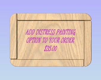 Add Distressed Painting to Your Wooden Gift