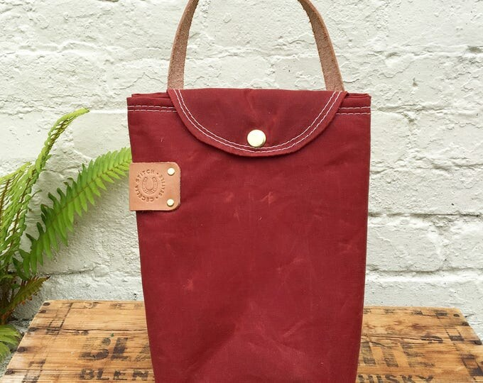 Insulated waxed Lunch bag FREE SHIPPING