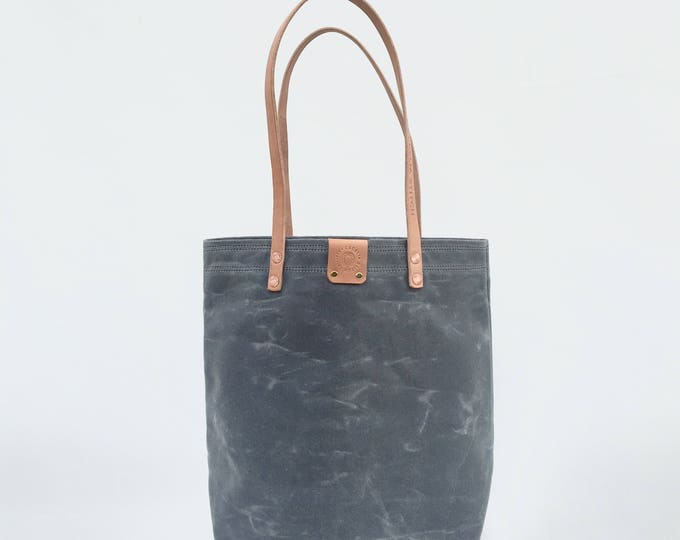 Finn - Minimalist Waxed Canvas tote FREE SHIPPING