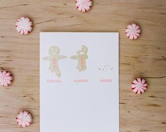 Gingerbread Letterpress Card