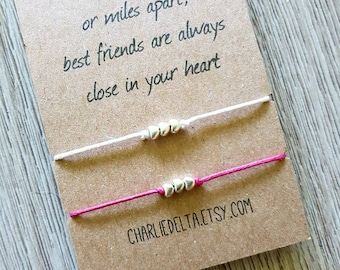 Friendship bracelet - set of two friendship bracelets - tie on bracelets - best friend gift - best friend bracelets - friendship bracelets
