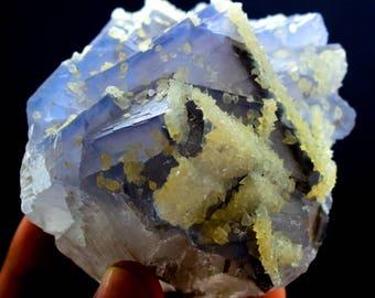 Purplish Flourite Specimen From Baluchistan Pakistan 418 Gram :81*80*56 mm