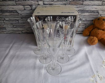 Vintage set of Royal glasses by Durbor boxed