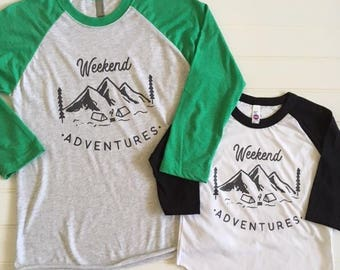 NEW! WEEKEND ADVENTURES/Infant and Toddler sizes