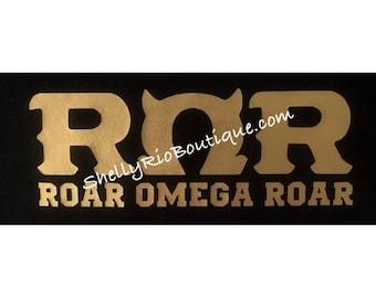 Roar Omega Roar Iron On, Monsters University Iron On, Custom Iron On