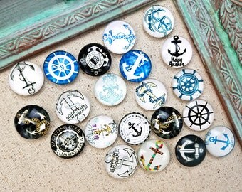 Coastal magnets - anchor decorative magnets - beach magnets - refrigerator magnets #M32
