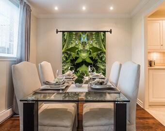 Marijuanna Art, OG Kush Flower Cannabis Wall Art, Exotic Plant Art,Kaleidoscope Art Prints, Tropical Wall Art Fabric, Large Botanical Print