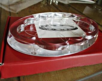 Scandinavian art glass,Holme Gaard glass, Shine Maria Bernisen , Danish modern glass,Holme Gaard art glass,Lysfad /lightdish .