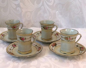 Antique Hot Chocolate Cups, Set of 4
