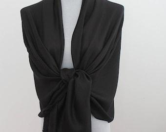 Wedding Scarf, Black Pashmina Scarf, Bridesmaid Scarf, Bridesmaid Shawl Wrap, Wedding Wrap, Wedding Shawl, fall scarf, autumn scarf