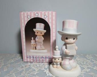 1986 Precious Moments Figurine God Bless America 102938