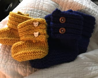 Toddler or Newborn Baby Booties